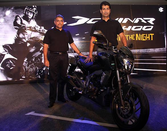 Rajiv Bajaj,MD Bajaj,Auto Ltd,  alongwith Eric Vas ,President  MotorcycleB...