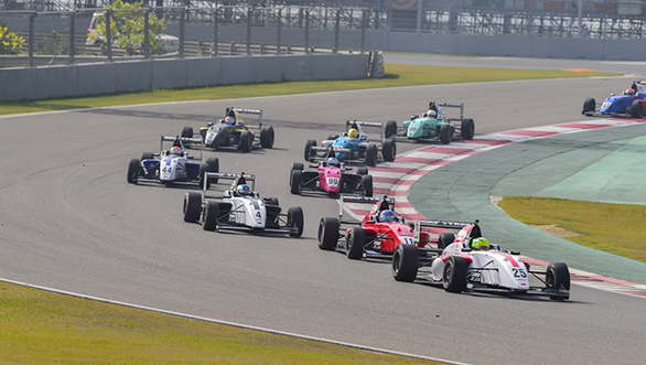Mick Schumacher leads the pack in one of the races
