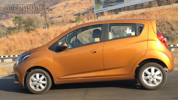 spied  updated chevrolet beat spotted testing in india