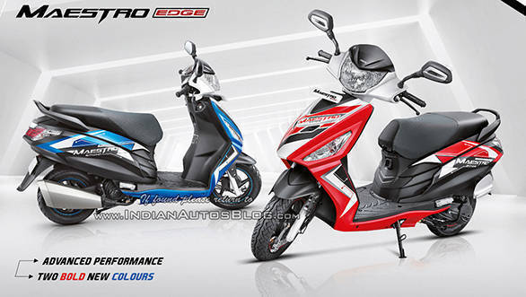 2017 Hero Maestro Edge to get AHO, new colours and retuned motor