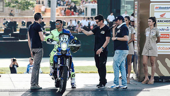Sherco TVS Racing's Aravind KP, who began 77th from the start, crashed during the stage, resulting in two fractures in his hand. However, he still managed to complete the stage