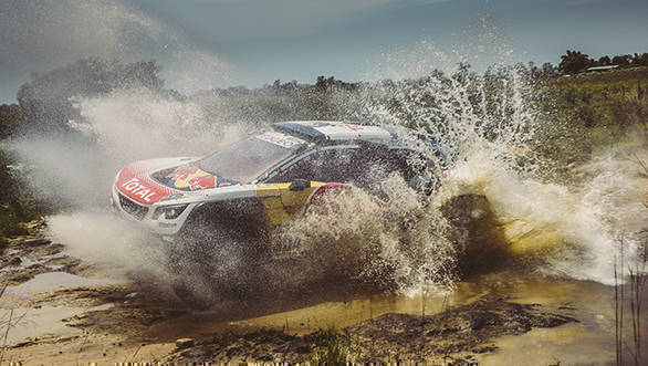 Carlos Sainz took fourth place in his Peugeot 3008 DKR, two places ahead of team-mate, Sebastien Loeb