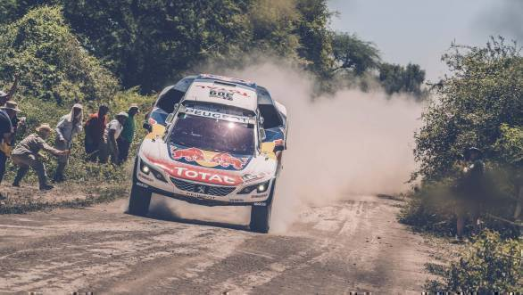 Sebastien Loeb (FRA) of Team Peugeot TOTAL races during stage 2 of Rally Dakar 2017 from Resistencia to San Miguel de Tucuman, Argentina on January 3, 2017