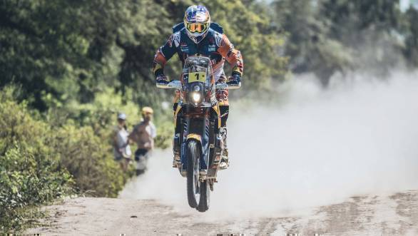 Toby Price (AUS) of Red Bull KTM Factory Team races during stage 2 of Rally Dakar 2017 from Resistencia to San Miguel de Tucuman, Argentina on January 3, 2017. - width=