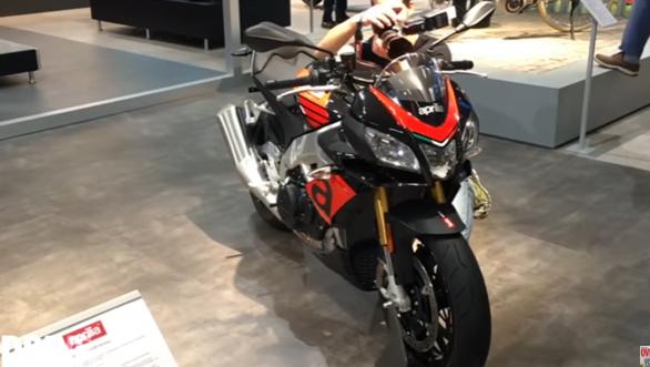 First look_ Aprilia Touno 1100, 1100 Factory, RSV4 showcased at Intermot 2016 - Video