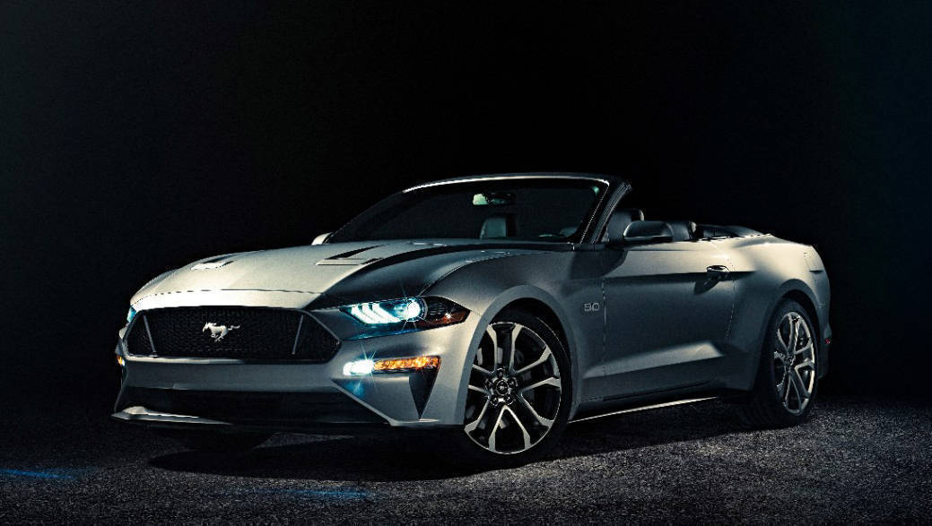 2018 Ford Mustang Convertible showcased in the United States