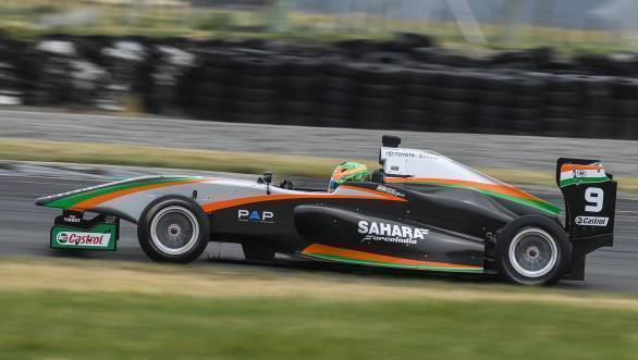Daruvala broke the circuit lap record during qualifying for Race 3 at