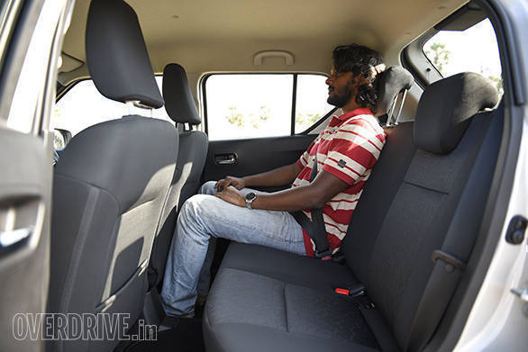 Rear knee room is very impressive for a car which has a wheelbase which is very similar to that of the Swift. However, shoulder room at the rear seat is quite poor and can accommodate just two adults comfortably