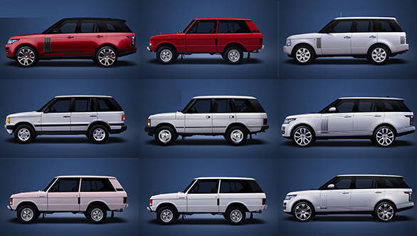 Evolution of the Land Rover Range Rover in 120 seconds