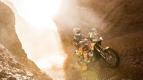 Sam Sunderland (GRB) of Red Bull KTM Factory Team races during stage 03 of Rally Dakar 2017 from Tucuman to Jujuy, Argentina on January 4, 2017 // Marcelo Maragni/Red Bull Content Pool // P-20170104-00531 // Usage for editorial use only // Please go to www.redbullcontentpool.com for further information. //