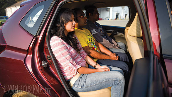 The Honda Jazz offered the best kneeroom and shoulder room in this test