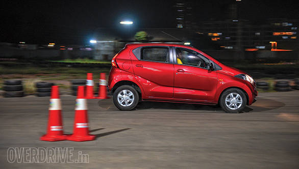 Cars like the redi-Go, Alto 800 and Nano, which don't get ABS, came to a screeching, smoky halt