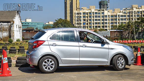 The Figo doesn't get parking sensors and offers poor rear visibility
