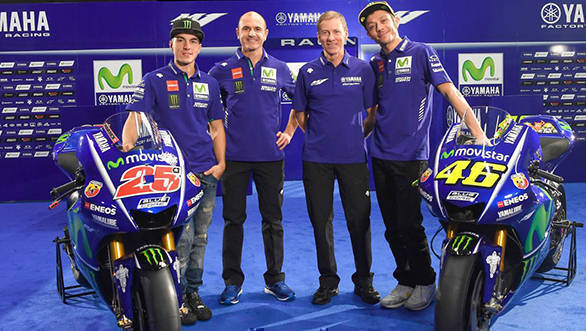 MotoGP 2017: Team Movistar Yamaha unveils new YZR-M1 and rider line-up