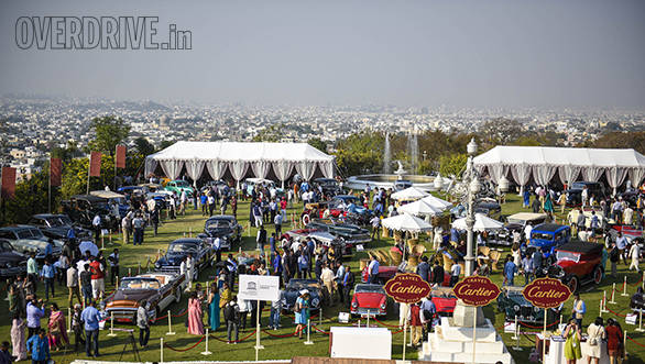 1- The Cartier Concourse D'Elegance was held at Falaknuma Palace Hyderabad on 5th Feb 2017
