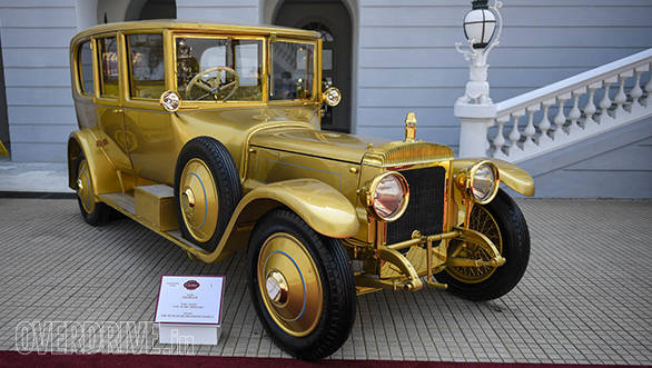 12- The stunning gold plated 1919 Daimler was restored for this event