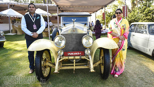 15- Yuvraj Kesri Singh of Wankaner and his wife with their prize winning 1921 Rolls-Royce Silver Ghost