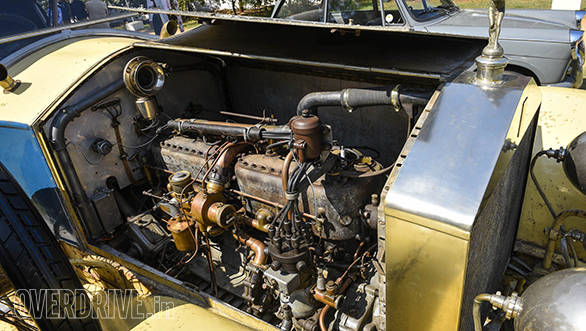 16- Engine compartment of the completely original Silver Ghost