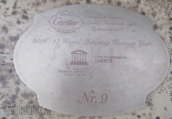 17 C- The Wankaner 1921 Rolls-Royce is the first car in India to have won the FIVA UNESCO Preservation Trophy