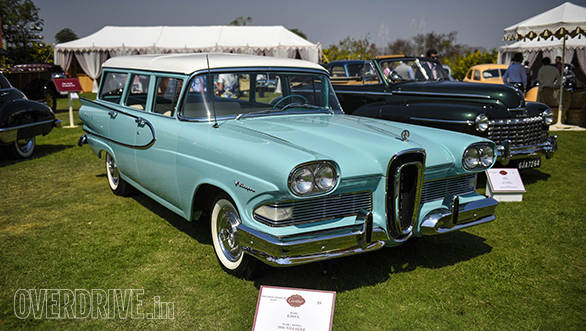 18--Post War Classic American prize winner-1958 Edsel Villager owned by Viveck and Zita Goenka