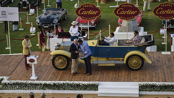 3- Fisrt ever Indian car to win the FIVA UNESCO Preservation Trophy- 1921 Rolls-Royce Silver Ghost 40-50HP owned by Yuvraj Kesri Singh of Wankaner