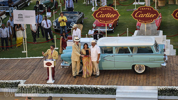 4-Post War Classic American prize winner-1958 Edsel Villager owned by Viveck and Zita Goenka