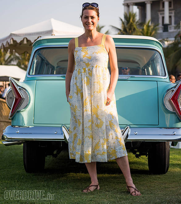 43- Yasmin Le Bon was again a Judge at the Concourse and said she loved the cars