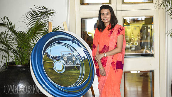 51- Vidita Singh who we have featured in the past, also had an exhibition of classic automotive art