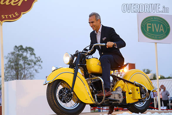 7-Best of Show Motorcycle prize winner - 1947 Indian Chief owned by Arjun Oberoi