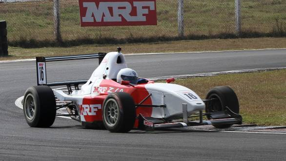 Karthik Tharani, winner of MRF F1600 race (Feb 18)
