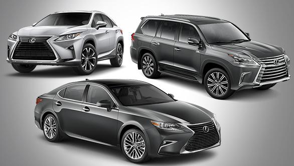 Lexus India range prices revealed