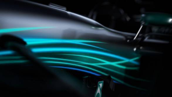 Engine cover of the new Mercedes W08