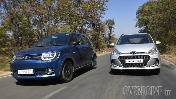 Comparison: 2017 Maruti Ignis diesel vs Hyundai Grand i10 diesel