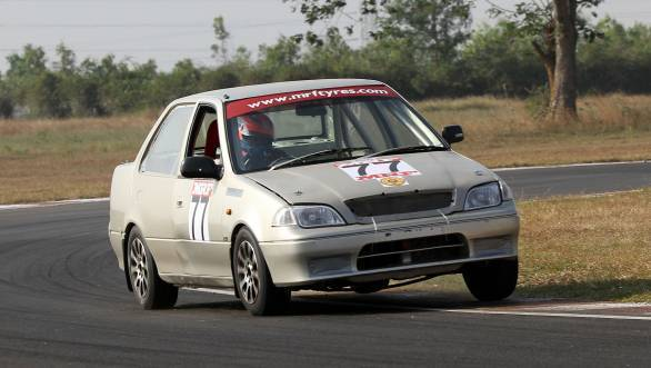 RAD Racing's Narendran won both races in the Saloon category