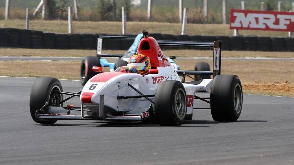 Sandeep Kumar,  winner of the MRF F1600 race (Feb 19)