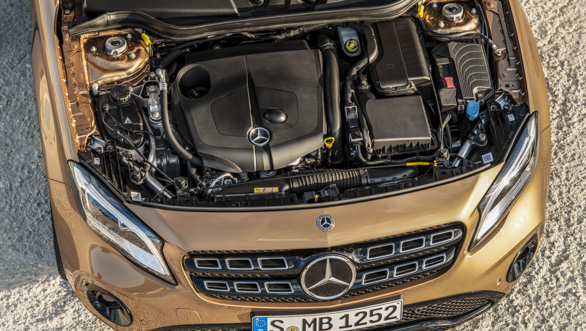 2017 Mercedes-Benz GLA:   2.0-litre petrol and 2.1-litre diesel  powertrains remain unchanged