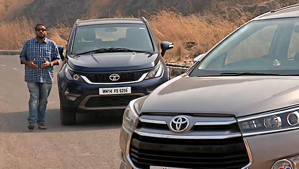 Toyota Innova Crysta vs Tata Hexa - Comparative Review