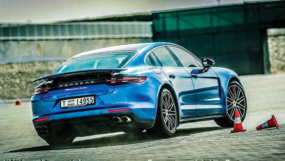 A short slalom course highlighted the Panamera's incredible agility