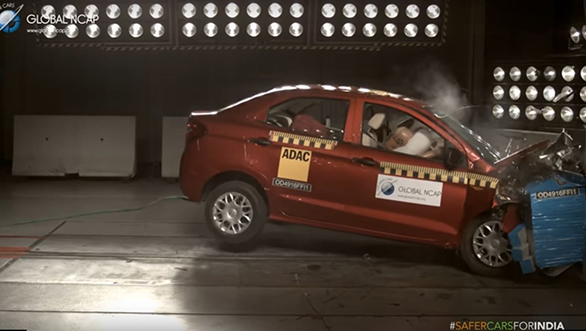 Ford Figo Aspire Global NCAP crash