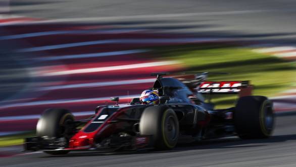 Romain Grosjean tests Haas F1's 2017 machine at Barcelona