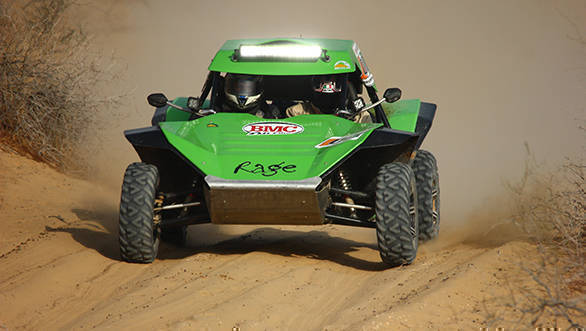 The Rage buggy, which will be competing in this year's event
