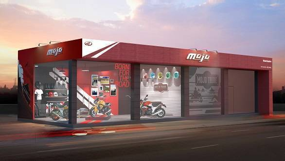 Sketches of first Mahindra Mojo exclusive dealership revealed