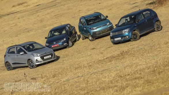 Maruti Suzuki Ignis vs Hyundai Grand i10 vs VW Ameo vs Mahindra KUV Comparo (241)