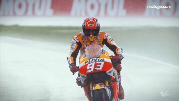MotoGp rain Marquez