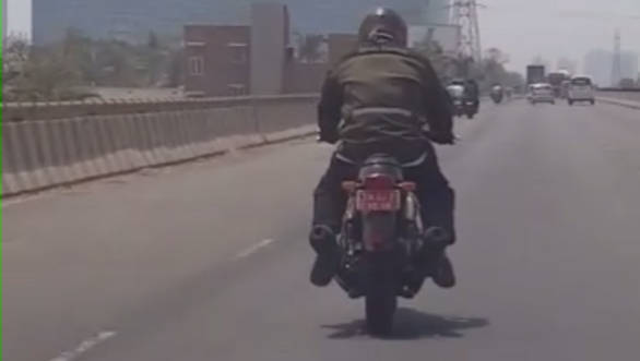 Spied: Royal Enfield 750cc twin cylinder motorcycle spotted testing in India