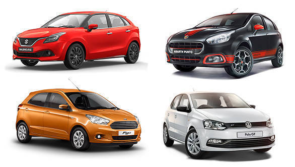 Spec comparison: Maruti Baleno RS vs Ford Figo 1.5 AT vs Volkswagen Polo GT TSI vs Abarth Punto