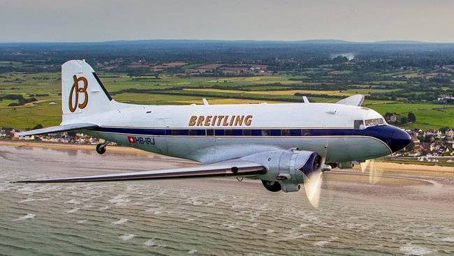 Breitling celebrates 77th anniversary of Douglas DC-3 with a world tour
