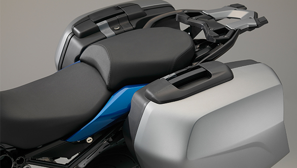 BMW offers a wide range of accessories, like these panniers.