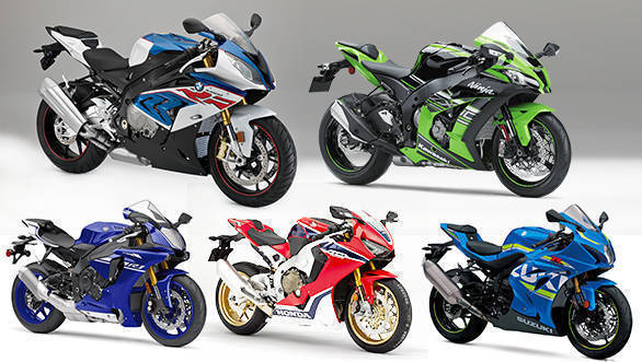 Spec comparison: BMW S1000RR vs Kawasaki Ninja ZX-10R vs Honda Fireblade vs Yamaha R1 vs Suzuki GSX-R1000