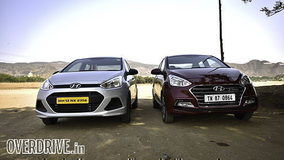 Old vs new: While the headlamps are the same, the differences lie in the new grille and bumper design